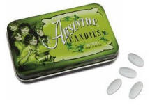 Absinthe Candy and green tin