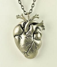 Anatomically Correct Heart Necklace for Christmas