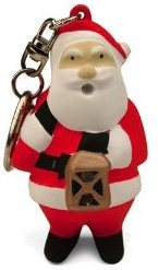Christmas Keychain LED Flashlight Santa Clause for sale