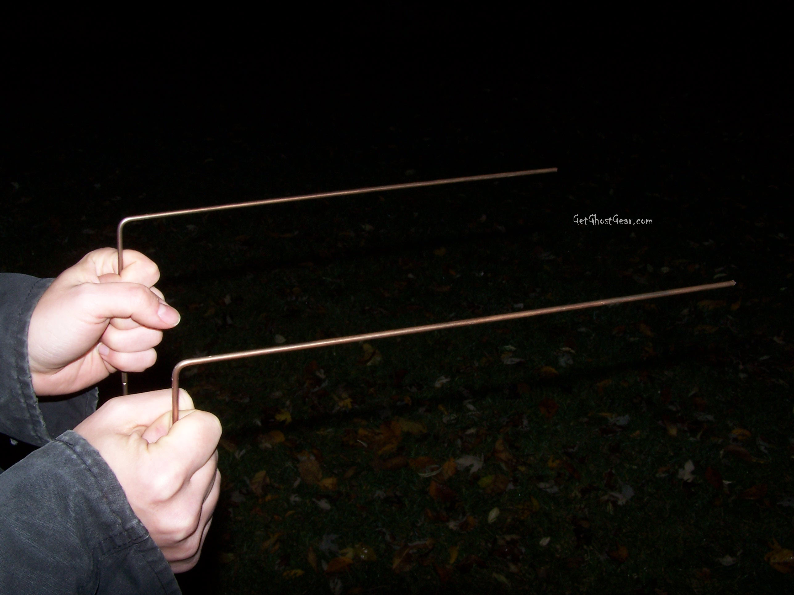 Dowsing rods used by metaphysical ghost hunters