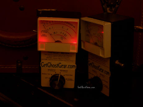 Two analog AC emf meters for ghost hunting