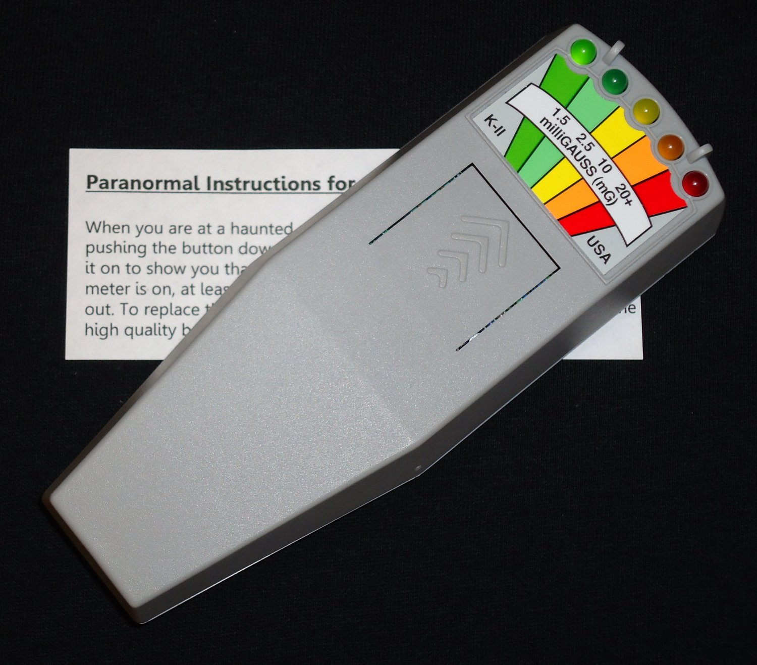 KII EMF Ghost Meter Deluxe with Paranormal Users Manual