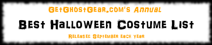 GetGhostGear.com's Annual Best Halloween Costume List