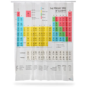 The Big Bang Theory Shower Curtain Periodic Table of Elements 2013