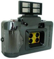 Four lens camera with flash for sale