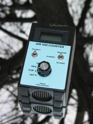 Air ion counter used by paranormal investigators