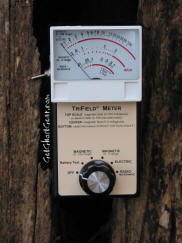 Electromagnetic field meter for ghost hunting
