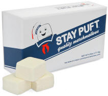 Ghostbusters stay puft caffeinated gourmet marshmallow