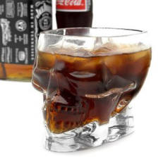 Glass Skull Drinking Cup Christmas Present
