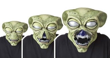 Best Animated Halloween Costume Mask of 2012 The Alien Visitor