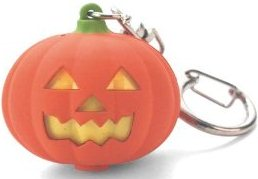 Jack O Lantern Keychain LED Flashlight with Sounds!