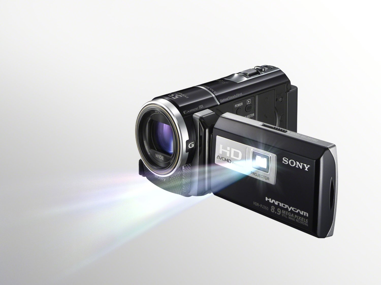 Sony HD ghost hunting video camera with built in projector