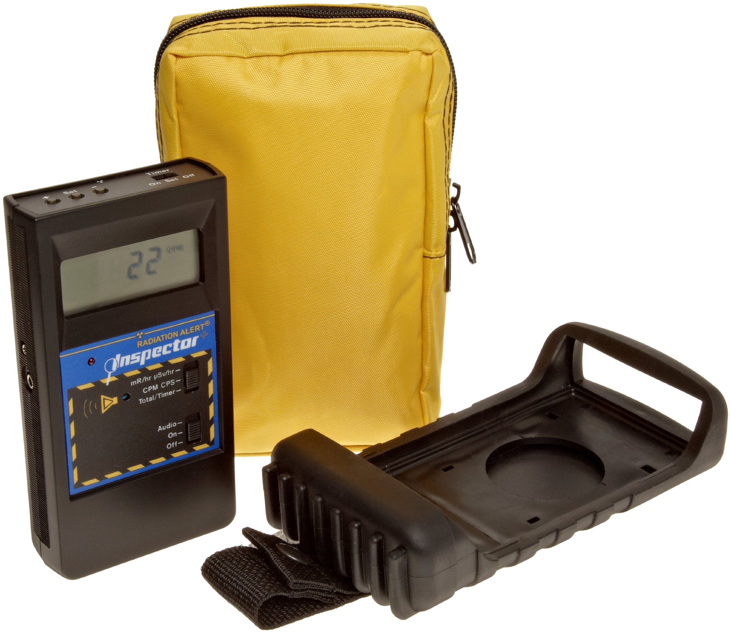 Ghost hunting gear, radiation meter with case